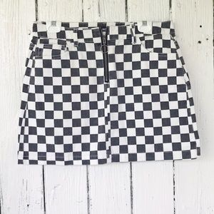 Urban Outfitters printed hipster mini skirt